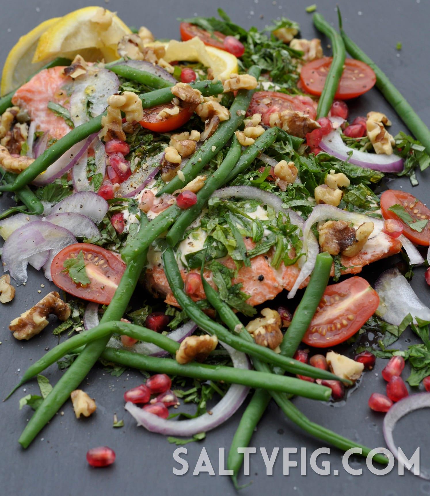 Oven Roasted Salmon with Tarator Sauce