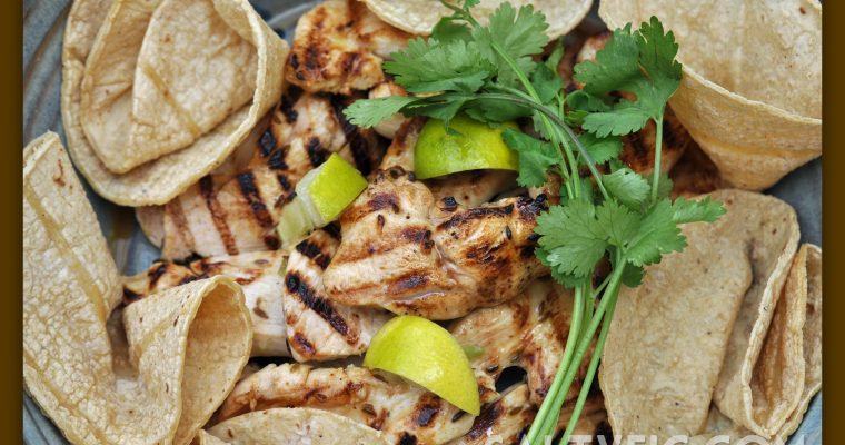 Cumin Lime Grilled Chicken and Two-Bean Salad