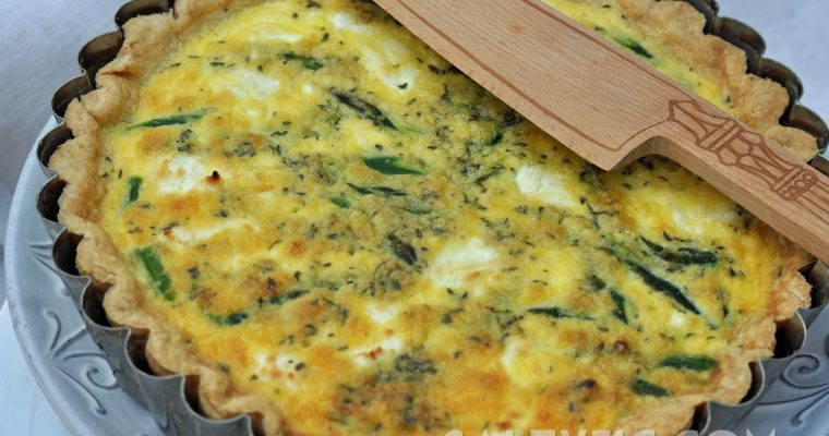 Quiche with Goat Cheese and Asparagus